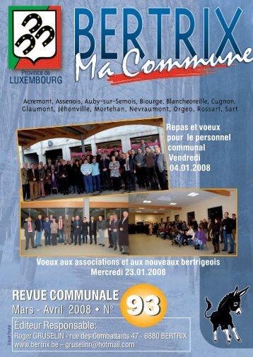 Revue Communale de Bertrix n° 93