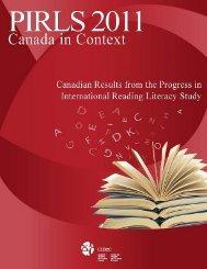 PIRLS 2011 -- Canada in Context - Conseil des ministres de l ...