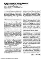 Elastin Fibers in the Sputum of Patients with Necrotizing Pneumonia*