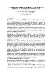 Título de la ponencia: El Observatorio del Mercado de ... - UPC