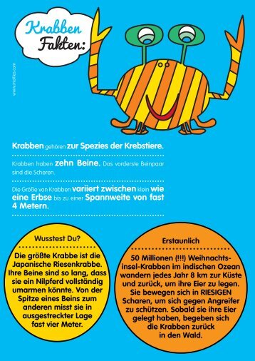 Krabben Fakten: - Motlies