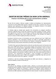 Meritor Recebe Prêmio Da MAN Latin America