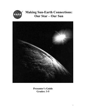 + Presenter's Notes (pdf - 1.25 MB) - Sun-Earth Days 2013