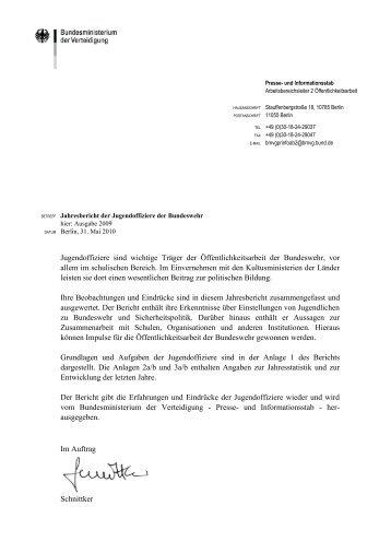 Jahresbericht der Jugendoffiziere 2009 - Bundeswehr-Monitoring