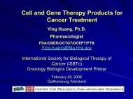 Cell and Gene Therapy Products for Cancer Treatment - Society for ...