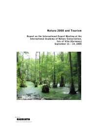 Natura 2000 and Tourism - Bundesamt für Naturschutz