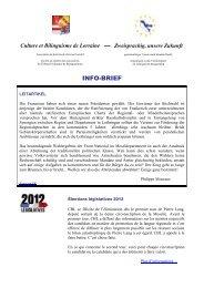 INFO-BRIEF - Culture et bilinguisme de Lorraine