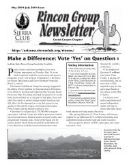 5/04 NEWSLETTER to printer - Arizona Sierra Club