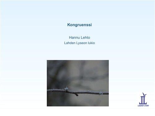 Kongruenssi - Lahti
