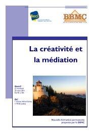 La créativité et la médiation - BECI