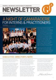 a night of camaraderie - General Insurance Association Of Singapore