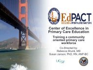 Center of Excellence in Primary Care Education Training a ...