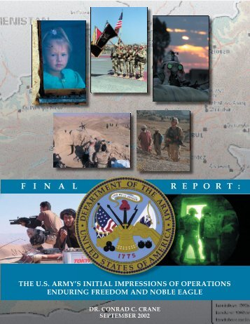 the us army's initial impressions of operations enduring freedom and ...