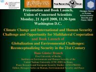 Climate Change and International and Human Security Challenge ...