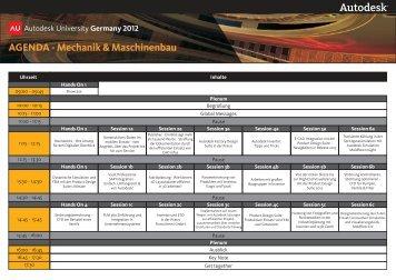 AGENDA - Mechanik & Maschinenbau
