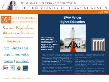 Newsletter - The University of Texas at Austin