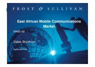 East African Mobile Communications Market - Growth Consulting ...