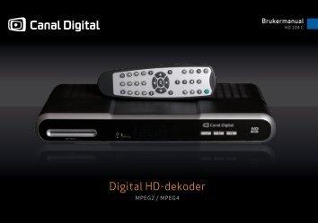 Brukerveiledning HD-dekoder 104C - PDF - Canal Digital Kabel-TV