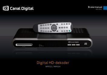 Brukerveiledning HD-dekoder 104C - PDF - Canal Digital Kabel-TV