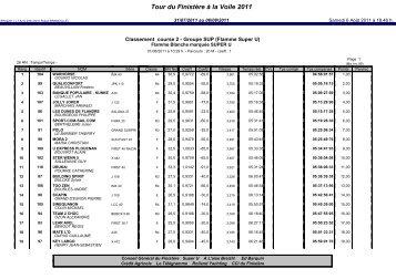 2 - Le tour 2011 - Tour du Finistère à la voile