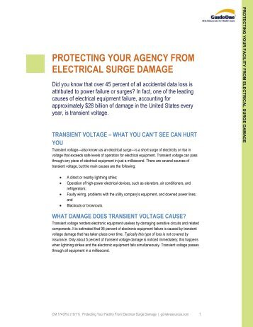 protecting your agency from electrical surge damage