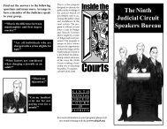 Speakers bureau borchure - Ninth Judicial Circuit Court of Florida