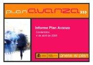 Listado de actuaciones - Plan Avanza