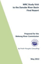 evaluation of the study visit - Mekong River Commission