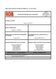 ORGANIZZAZIONE SICUREZZA RDB S.p.A. AL 10/12/2007: