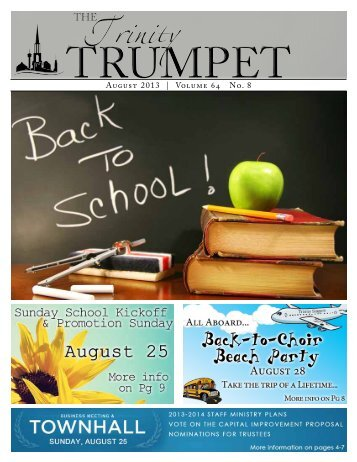 August 2013 | Volume 64 No. 8 - Trinity Baptist Church