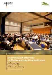 International Conference on Electromobility Standardization