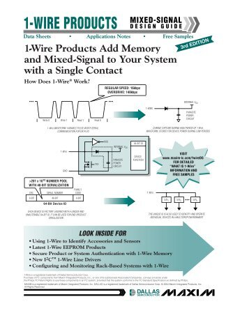 1-wire products mixed-signal