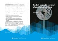Socialt kapital i regional utvecklingsplanering - SLL Tillväxt, miljö ...