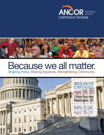 Conference Program Book - Ancor