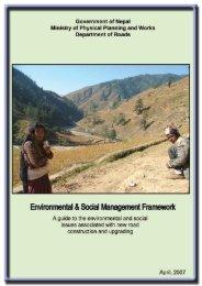 Environmental & Social Management Framework - About ...