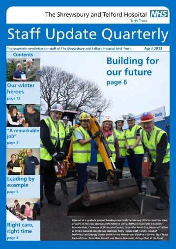 April 2013 - Royal Shrewsbury Hospitals NHS Trust