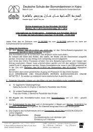 Elterninformationen_KiGa_Onlinebewerbung dt 12_13x - DSB | Kairo