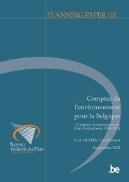 Comptes économiques de l'environnement 1990-2008