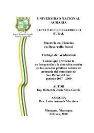UNIVERSIDAD NACIONAL AGRARIA Maestría en Ciencias en ...