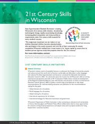 21st Century Skills in Wisconsin - The Partnership for 21st Century ...