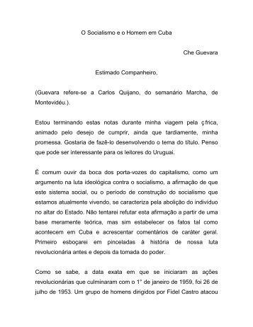 O SOCIALISMO E O HOMEM DE CUBA.pdf - Afoiceeomartelo.com.br