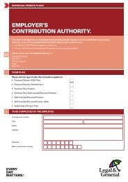 Employer's contribution authority form for Self ... - Legal & General