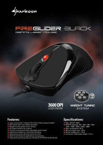 GAMING LASER MOUSE www.sharkoon.com