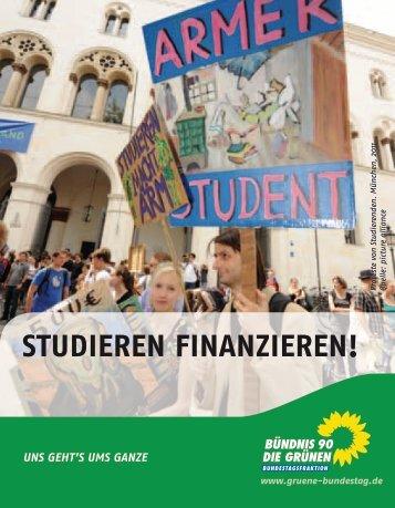 Studieren finanzieren! - Bundestagsfraktion Bündnis 90/Die Grünen