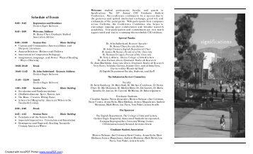 Schedule of Events - California State University, Los Angeles