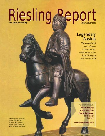 Legendary Austria - Riesling Report