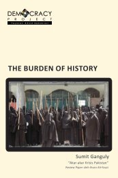 THE BURDEN OF HISTORY - Democracy Project