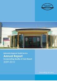 2009/2010 Annual Report - Bairnsdale Regional Health Service