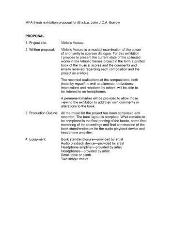 mfa thesis proposal