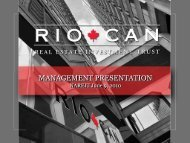 View this Presentation (PDF 2.56 MB) - RioCan